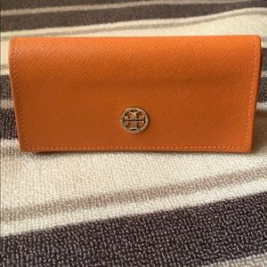 Orange Tory Burch Sunglasses Case